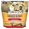 Pur Luv Grande Bones - Bacon 32 oz, 12 Bones