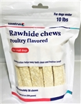 Covetrus Rawhide Chews Poultry Flavored For Dogs Under 10 lbs, 30 Chews SMALL RED