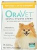 Oravet  Dental Hygiene Chews X-Small Dogs Up to 9 lbs, 14 Chews
