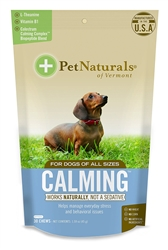 Pet Naturals Calming Chew for Dogs, 30 Bite Size Chews
