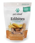 Pet Releaf Edibites Large Breed, Peanut Butter & Banana, 7.5 oz