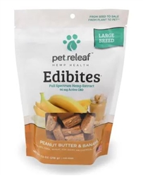 Pet Releaf Edibites 90 mg ACTIVE CBD Large Breed, Peanut Butter & Banana, 7.5 oz