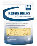 Breakables Clenz-a-dent Rawhide Dental Chews For Medium-Large Dogs, 15 Chews