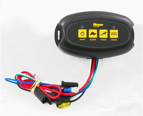 The Meyer In-Cab Speed Controller 34405 is used with the Meyer Tailgate  Spreader BL240 part #31100 and the Meyer Tailgate Spreader BL400 part  #36100.