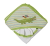 Green Alligator Infant Hooded Towel Gift Set