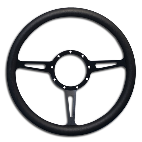 Classic Billet Steering Wheel Matte Black Spokes/Black Grip