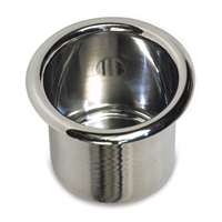 Drink Holder Small Spun Aluminum