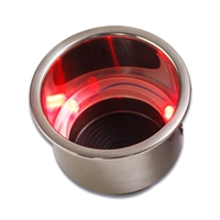 Drink Holder Stainless Steel Red LED