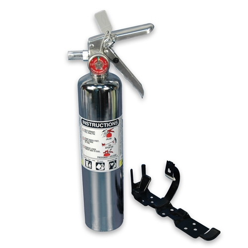 Fire Extinguisher Chrome Large 2-1/2Lb