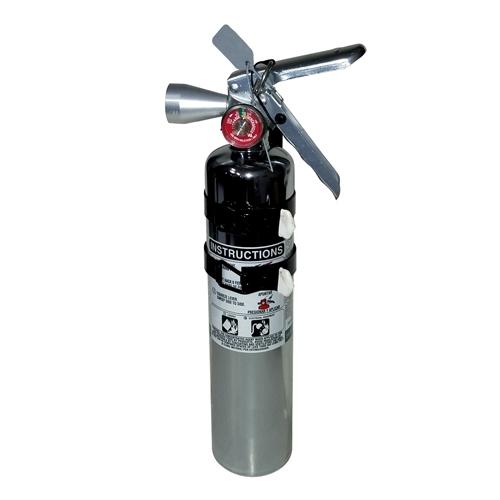 Fire Extinguisher Chrome Clean Agent Large 2-1/2 lb