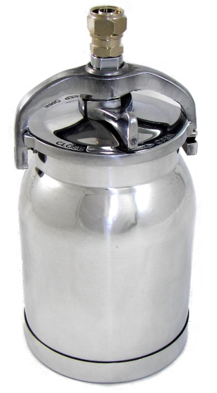 1 Qt Cup W/ Lid Assembly - Fits Many HVLP Turbine Spray Guns