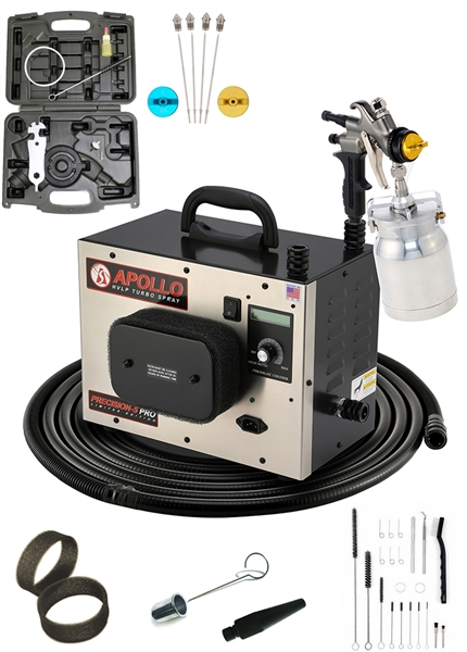 Apollo PRECISION 5 PRO LE Turbo HVLP paint spray system with 7700QT spray gun