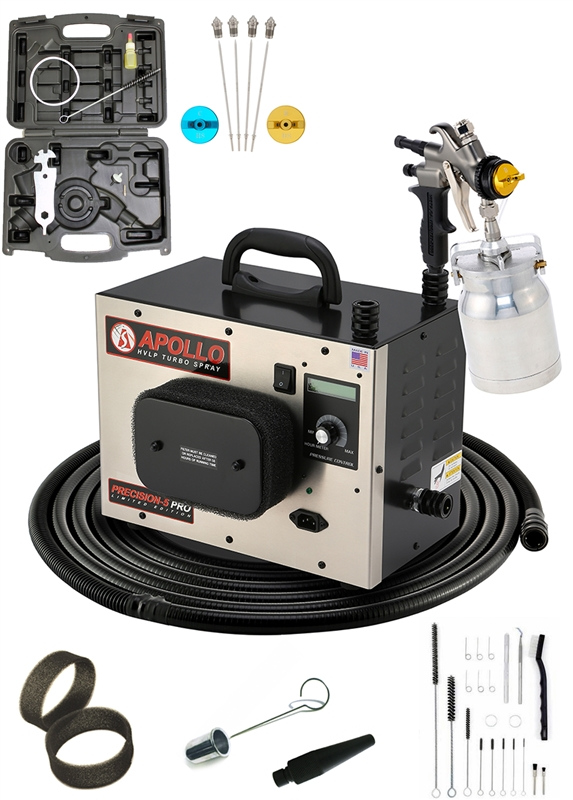 Apollo PRECISION-5 PRO LE Turbo HVLP paint spray system with 7700QT spray gun