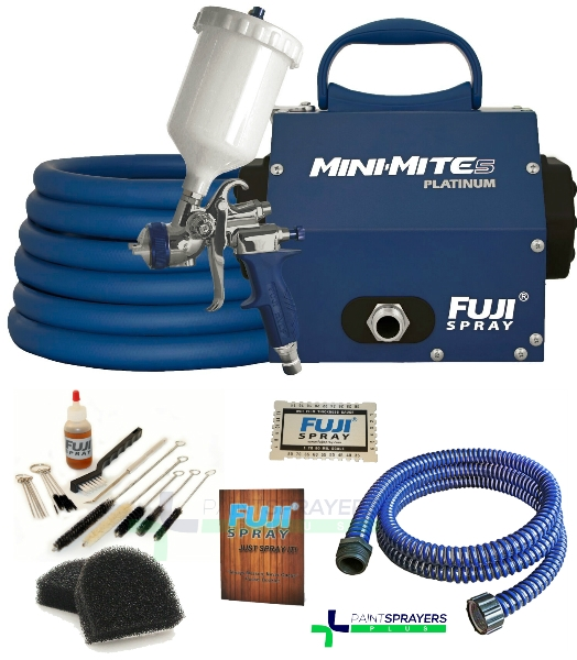 Fuji Mini-Mite 5 T75G Gravity Platinum HVLP Paint Sprayer