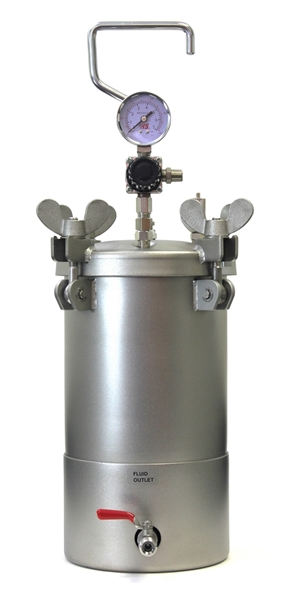 1 Gallon Stainless Steel Bottom Outlet Pressure Pot Dispensing Tank
