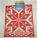 Cose Nuove Swedish Dish Cloth Red Snowflake