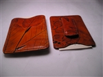 Leaf Leather Money Clip Card Case