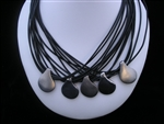 Somers 5 Heathers on 15 Black Leathers Pendant