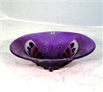 Butterfly Bowl (small, purple) by Mats Jonasson Maleras