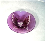 Butterfly Bowl (large, purple) by Mats Jonasson Maleras