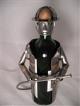 Fireman Wine Caddy by H&K Steel Sculptures