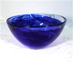 Medium, blue Contrast Bowl by Kosta Boda