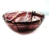 Medium, purple Contrast Bowl by Kosta Boda