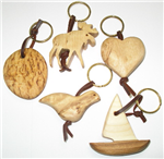 Burlwood Key Ring from Cose Nuove