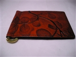Leaf Leather Money Clip Card Holder