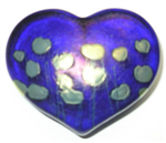 Robert Held Cobalt Giverny Heart Paperweight