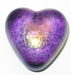 Robert Held Round Amethyst Heart Paperweight