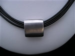 Somers Square (small) Pendant w/ 5 Black Leathers