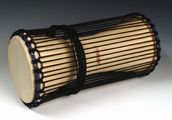 "Large Talking Drum Softwood ( 7.5""x18"")"