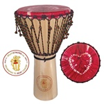 "drumSTRONG djembe 13"" x 24"" Drumming to Beat Cancer"