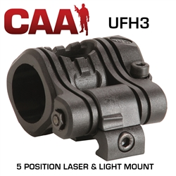CAA - 5 Position Laser and Light Mount 1""