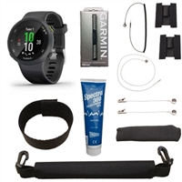 Garmin Forerunner 45 w/ Heart Rate Monitor and VMAX Premium Adapter Kit For Sale!