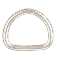 "Nickel Plated Steel 1"" D Ring - CLOSEOUT These economical welded designed D rings offer durability and performance that is ideal for belts, dog collars, bags, breast collars and more."