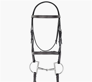 Best Discount Price on Fancy Raised Leather Padded Dressage Bridle