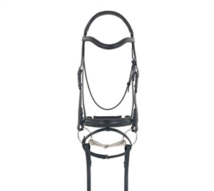 Best Discount Prices on Recessed Crown Leather Dressage Bridle with Flash