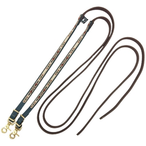 BNavajo Designed Beta Grip Split Reins with Colored Ends for Sale!
