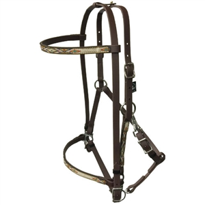 Navajo Designed Halter w/Removable Brow Band & Add On Headstall for Sale!