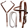 Western Designed Bridle, Reins & Breast Collar Set for Sale!