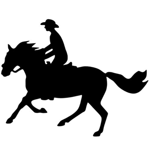 Cantering Man Reflective Decal for Sale!