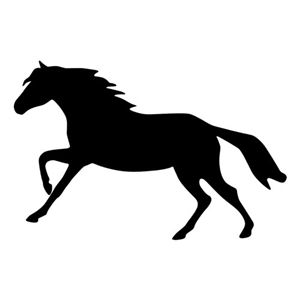 Running Horse Reflective Decal for Sale!