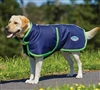 WeatherBeeta Parka 1200D Deluxe Dog Coat- Navy/Lime For Sale!