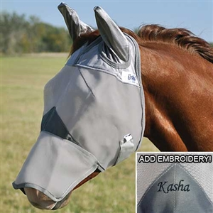 Cashel Crusader Fly Mask with Ears - Long Nose for Sale!