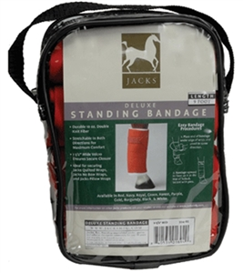 Jacks brand standing wraps for your horses protection over a quilted or no bow wrap.