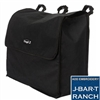 Blanket Storage Bag measures 23 x 19 x 9 heavy cordura with three adjustable loops with snap closures to securely attach the bag to a stall front, trailer, or tack room. Large opening with quick grip closure at top at The Distance Depot.