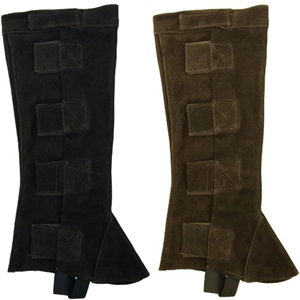 Suede Half Chaps with Velcro Closures for Sale!