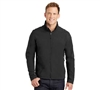 Mens Softshell Jacket this sleek tech-inspired soft shell boats resistance to wind and rain, with 100% polyester woven shell bonded to a water resistance film insert and 100% polyester microfleece lining.